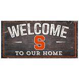 Syracuse Orange Welcome Sign Wall Art