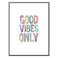 Art.com 'Good Vibes Only' Watercolor Mounted Wall Art Print