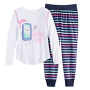Girls 4-14 SO® Holiday Handkerchief Hem Tunic & Thermal Fleece Leggings Set