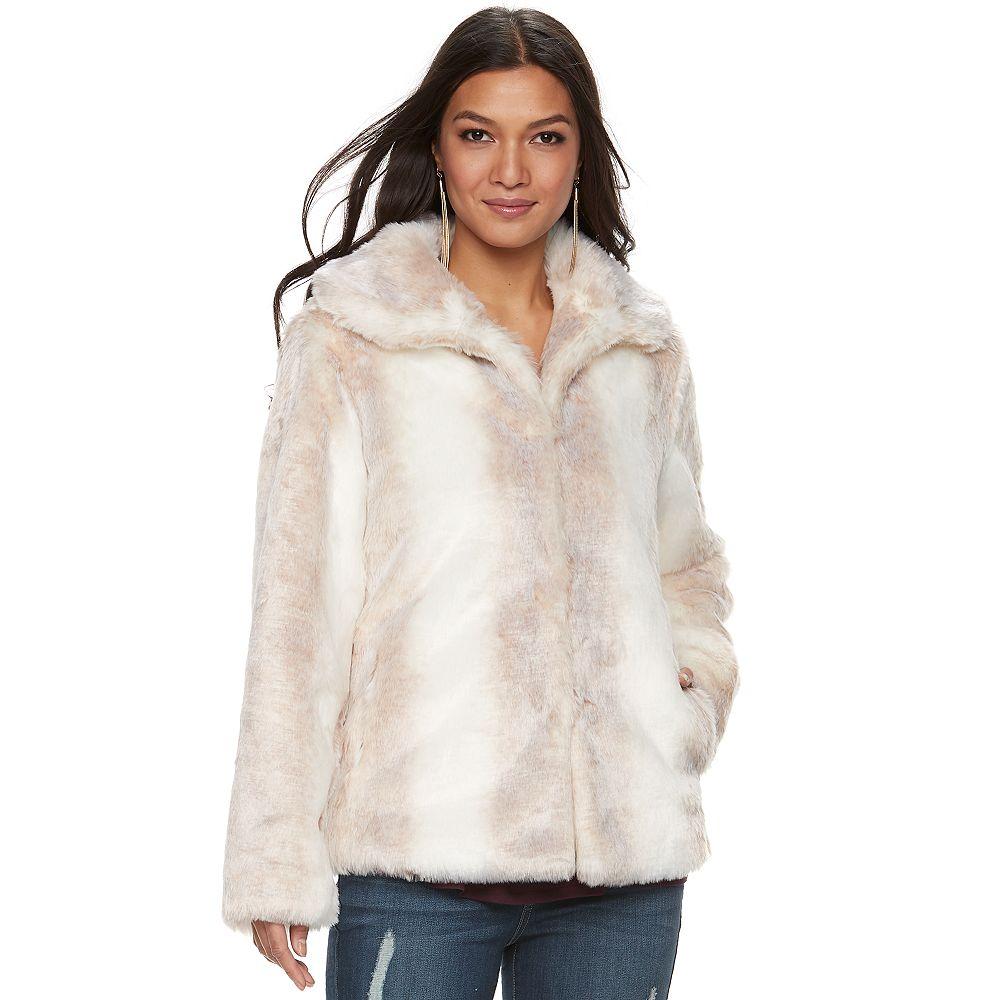 Jennifer Lopez Faux-Fur Coat