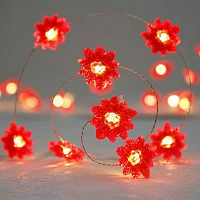 Manor Lane 10-ft. Poinsettia String Lights