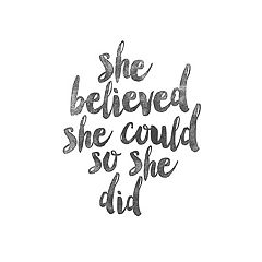 Art.com 'She Believed She Could So She Did' Wall Art Print
