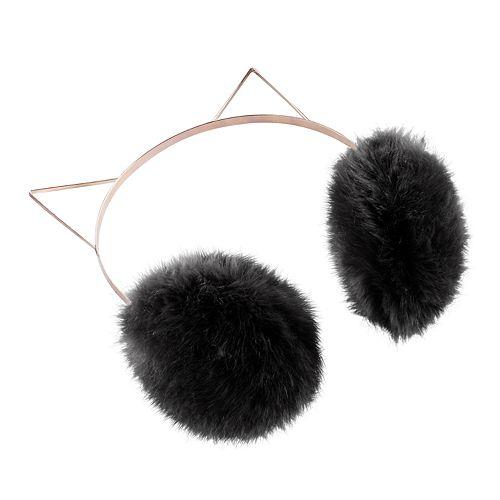 Women's LC Lauren Conrad Faux-Fur Kitty Earmuffs