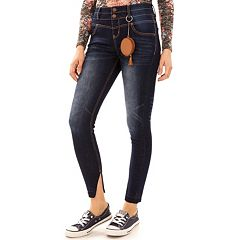 Juniors' Wallflower Sassy High Rise Skinny Jeans