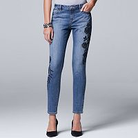 Women's Simply Vera Vera Wang Embroidered Skinny Jeans