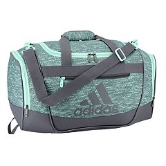4ee00cbcc7 adidas Defender III Small Duffel Bag. Black Onix Jersey Shock Pink Raw Green  ...
