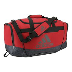 7fd78f77b adidas Defender III Medium Duffel Bag. Black White Active Maroon