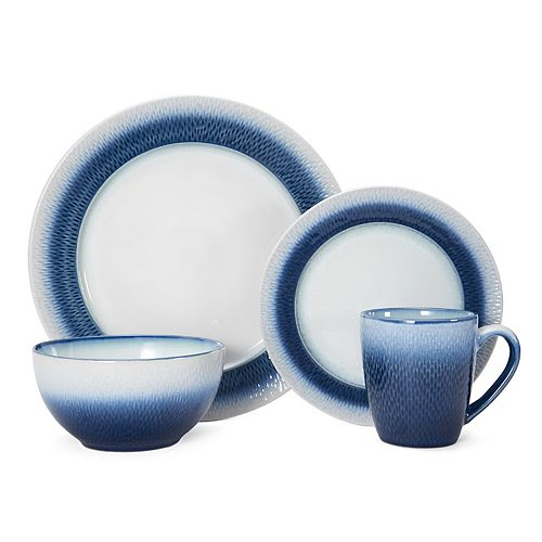 Pfaltzgraff Eclipse Blue 16-pc. Dinnerware Set