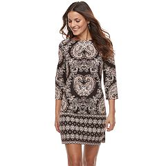 Petite Suite 7 Scroll Shift Dress