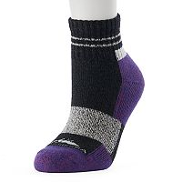 Women's High Sierra Striped Wool Blend Performance Quarter Socks