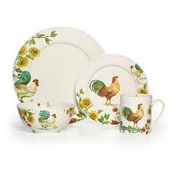 Pfaltzgraff Rooster Meadow 16 pc Dinnerware Set