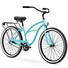 Women's sixthreezero Around the Block Teal 26-Inch Single Speed Beach Cruiser Bike with Rear Rack