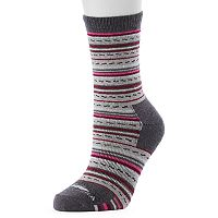 Women's High Sierra Fairisle Striped Wool Blend Performance Crew Socks