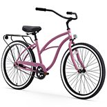 Women's sixthreezero Around the Block 26-Inch Single Speed Beach Cruiser Bike with Rear Rack