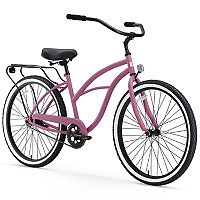 Women's sixthreezero Around the Block 26-Inch Single Speed Beach Cruiser Bike with Rear Rack