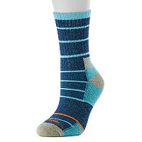 Women's High Sierra Striped Wool Blend Performance Crew Socks