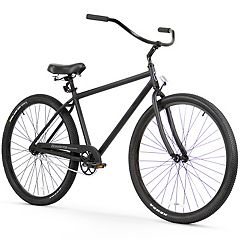 Men's Firmstrong Black Rock Single Speed Beach Cruiser Bike