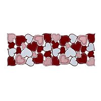 Celebrate Valentine's Day Together Hearts Cutout Table Runner