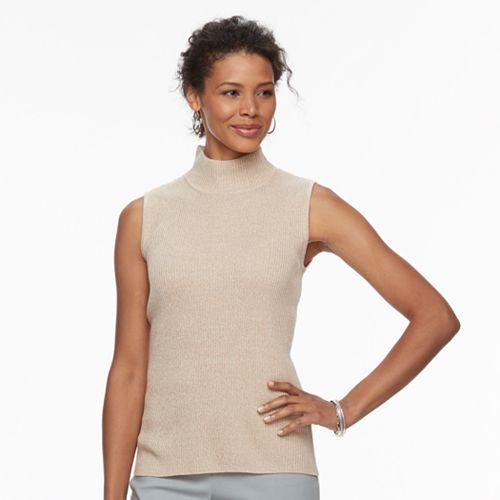 Women's Dana Buchman Sleeveless Turtleneck Top
