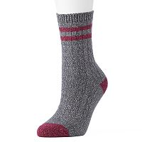Women's High Sierra Cable Knit Striped Crew Socks