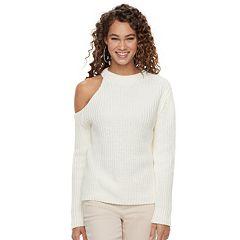 Women's Jennifer Lopez Ribbed One-Shoulder Sweater