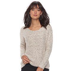 Women's Jennifer Lopez Fuzzy Boucle Sweater