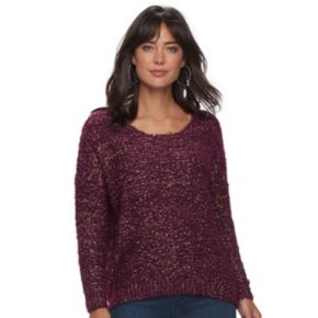 Women's Jennifer Lopez Fuzzy Boucle Sweater