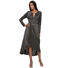 Women's Jennifer Lopez Metallic Faux-Wrap Maxi Dress
