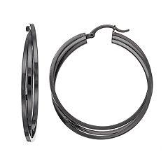 Crisscross Nickel Free Triple Hoop Earrings