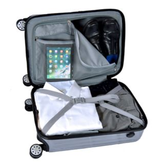 Dallas Cowboys 22-Inch Hardside Wheeled Carry-On with Charging Port