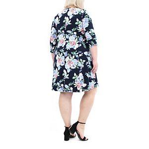 Women's Nina Leonard High-Low Trapeze Dress