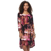 Women's Nina Leonard High-Low Trapeze Dress