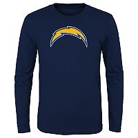 Boys 8-20 Los Angeles Chargers Logo Long-Sleeved Tee