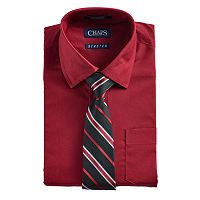 Boys 4-7 Chaps Button-Down Shirt & Tie Set