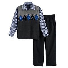 Boys 4-7 Chaps Argyle Sweater Vest Set