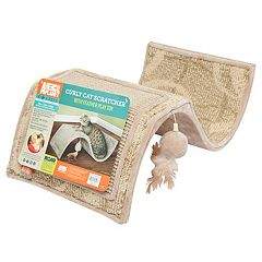 Animal Planet Curly Cat Scratcher with Feather Play Toy