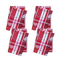 Celebrate Valentine's Day Together Woven Heart Jacquard 4-pack Napkin Set