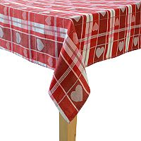 Celebrate Valentine's Day Together Woven Heart Jacquard Tablecloth
