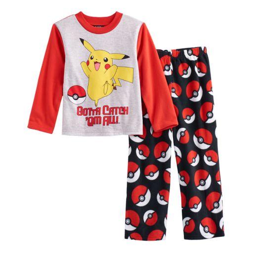 Boys 6-12 Pokemon 2-Piece Fleece Pajama Set