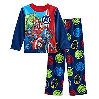 Boys 4-10 Marvel Avengers 2-Piece Fleece Pajama Set