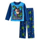 Boys 6-12 Minecraft Fleece 2-Piece Pajama Set