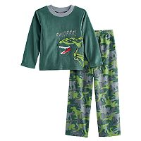Boys 4-10 Up-Late Dinosaur 2-Piece Fleece Pajamas
