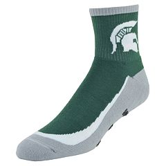 Men's Mojo Michigan State Spartans Gripper Quarter-Crew Socks