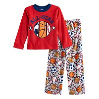 Boys 6-12 Up-Late All-Star 2 pc Fleece Pajamas