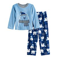 Boys 6-12 Up-Late Polar Bear 2-Piece Fleece Pajamas