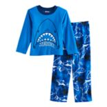 Boys 4-10 Up-Late Shark Fleece 2 pc Pajama Set