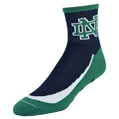 Men's Mojo Notre Dame Fighting Irish Gripper Quarter-Crew Socks
