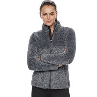 Women's FILA SPORT® Sherpa Fleece Long Sleeve Jacket