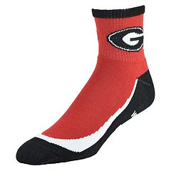 Men's Georgia Bulldogs Grip the Turf Quarter-Crew Socks