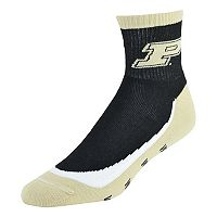 Men's Purdue Boilermakers Grip the Turf Quarter-Crew Socks